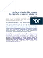 De La AdministraciónEscolar