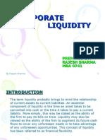 Corporate Liquidity