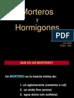 Morteros y Hormigones
