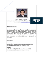Resume With Border