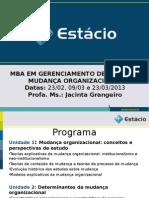 Aula 1, 2 e 3 -Mudança organizacional 2013.ppt