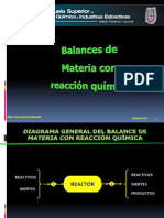 balance con reaccion