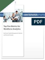 Top metrics for HR
