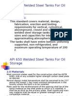 TDI11 Welded Steel Tank Design Standard API 650