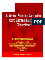 La Gestion Financiera Corporativa Como Elemento Estategico Diferenciador