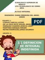 Exposicion Integral Indefinida