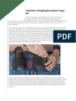 Cara Praktis Dan Sederhana Mengkilapkan Sepatu Tanpa Menggunakan Semir