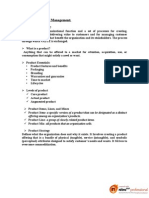 Product and Brand Management a Concise Note on Everything About Product and Brand Management ESTUPENDO