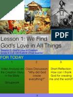 First Quarter Grade 6 Session 2 Creation Story
