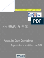 Normas ISO 9000 Aspectos Generales