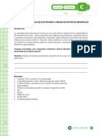 FLUJO DE ELECTRONES A TRAVÉS DE DISTINTOS MATERIALES 8°