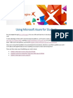 Using Microsoft Azure for Students