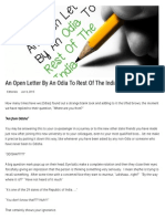 An Open Letter by an Odia to Rest of the India _ Bhubaneswar POST