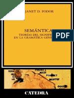 ESCUELAS III-Janet Fodor. Francisco Aliaga García (Traductor)-Semántica. Teorías del significado en la gramática generativa-Ediciones Cátedra (1985).pdf
