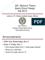 ECEN620 - Network Theory Broadband Circuit Design Fall 2014 Lec 15 - Delay Locked Loops (DLLs)