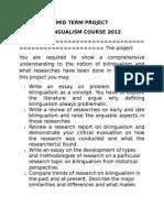 Mid Term Project Bilingualism