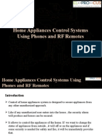 Home Appliances Control Systems Using Phones and RF Remotes