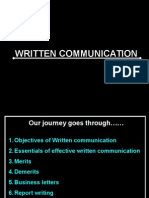 Written Communication - Business Letter & Report Writing