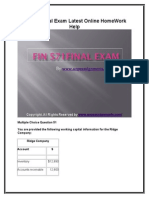 FIN 571 Final Exam Latest Online HomeWork Help