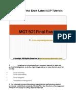 MGT 521 Final Exam Latest UOP Tutorials