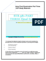 STR 581 Capstone Final Examination Part Three UOP Study Materials