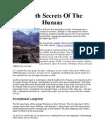 Health Secrets of the Hunzas