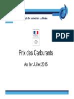 Formation Des Prix Des Carburants Juillet 2015
