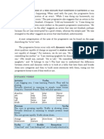 ProgProgressive Stative and Dynamic Verbsressive Stative and Dynamic Verbs