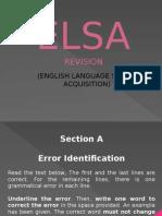 ELSA Revision (PT3) ERROR IDENTIFICATION