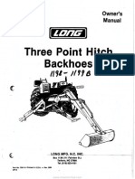 Long Three Point Hitch Backhoes Owners Manual