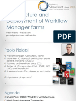 Architecture and Deployment of Workflow Manager Farms