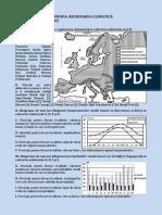 Fisa de Lucru Europa. Regionarea Climatica Pentru Bacalaureat