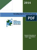 2014 Invading Species Watch Program Annual Report