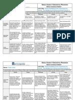 edsc weekly schedule format week 1