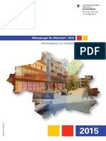 Broschüre Mietspiegel 2015