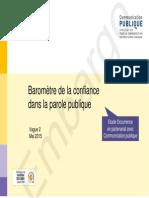 Baromètre 2015 de la confiance dans la parole publique
