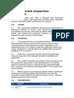 Dye Penetrant Inspection Procedure