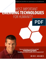 The Ten Most Important Emerging Technologies for Humanity