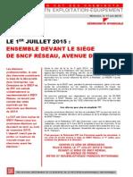 La CGT est  exclue de SNCF Réseau
