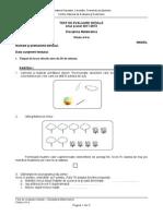 Evaluare Initiala Matematica Cls a II a Test