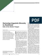 Nurturing Linguistic Diversity in Jharkhand