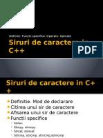 Siruri de caractere C++
