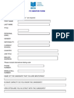 ITC Mentor Form