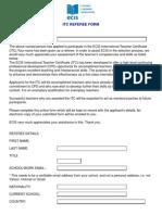 ITC Referee Form