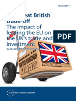 Impact on trade of UK leaving EU