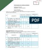 Modelos Cuestionario Control Interno