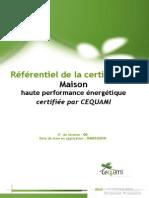 Cahier Des Charges CEQUAMI 09-2010