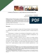 A Formação Humana e a Opção Pelos Ciclos de Formação.