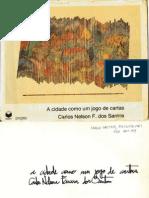 A Cidade Como Um Jogo de Cartas - Carlos Nelson F Dos Santos