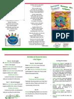 """Folheto SL 2015 """"Palavras do Mundo"""""""